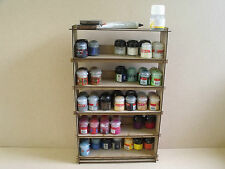 Paint stand 70 pots rack storage Workshop Warhammer Tamiya Humbrol Wargames