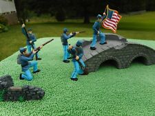 TAKING THE BRIDGE CIVIL WAR DIORAMA/ Union soldiers/ toy/ EXCEPTIONAL ITEM!!