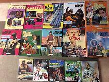 lotto 15 fumetti euracomix tra il N° 7 e il N° 93 con copertina rigida