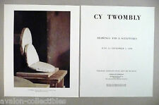 Cy Twombly Art Gallery Exhibit Double-Page PRINT AD - 1990 ~~ Rotalla
