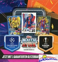 2020/21 Topps Match Attax UEFA Champions League Soccer HUGE 30 Pack Box-180 Card