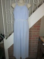 BNWT UK 18 Lipsy Maxi Dress Periwinkle Blue Pastel Lace Flowers Bridesmaid Party