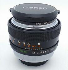 Canon FD 55mm f/1.2 FAST manual Lens for SLR DSLR in LIKE NEW