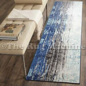 FORTUNA NAVY BLUE URBAN FADED STYLE MODERN RUG RUNNER 80x300cm **NEW**