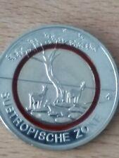 5 Euro Münze 2018 BRD Subtropische Zone D München stempelglanz Tropische Zone
