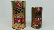 (2) Vintage Tooths Kb Lager Australian Export Empty Beer Cans 1 Pt 9 Oz & 370 Ml