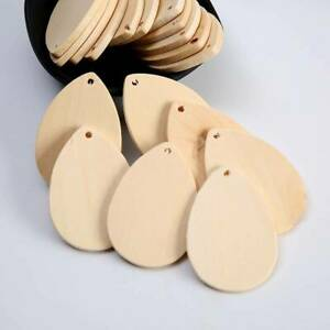 10pcs 57x40mm Teardrop Natural Wood Pendants Beads for Earring Jewelry Making