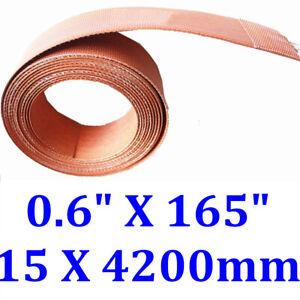 "0.6"" X 165"" 15 X 4200mm 400W Flexible Heating Element Strip Belt Silicone Heater"