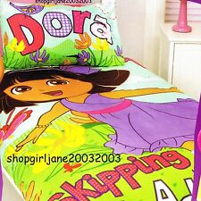 Dora the Explorer Skipping into Adventure - Double/US Full Bed Quilt Doona Cover