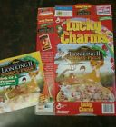 1998 Lucky Charms Cereal Box with Lion King II Activity Book
