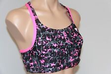 New Speedo Sport Fit Swimsuit Bikini Bra Top Sz 12 Power Pink