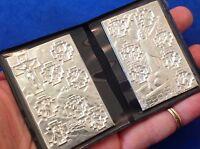 STATIONS OF THE CROSS Silver Metal Saint Plaque Folder Pocket Catholic SHRINE 2