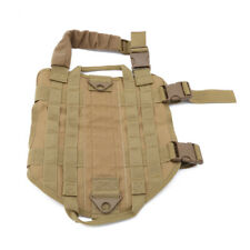 Pet Dog Tactical Harness Puppy Patrol Vest Military Adjustable Hunting Cloth GG