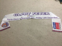 Perth Glory Vs Newcastle Jets Scarf Banner Unknown Signature A-League Football