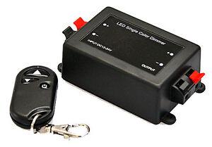 Low Voltage RF Wireless Remote Dimmer for 12 Volt LED 12VDC at 8 Amps 25ft Range
