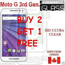 NEW PREMIUM TEMPERED GLASS SCREEN PROTECTOR FOR MOTOROLA MOTO G 3RD GEN.