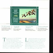 CANADA  - DUCK STAMP BOOKLET  -  MINT NH - 1996 - 1
