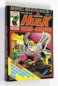 Marvel Maxi Pockets Nr. 1 DER UNGLAUBLICHE HULK Comic-Jahrbuch Condor 1988