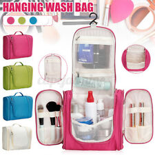 Ladies Wash Bag Toiletry Cosmetic Travel Make Up Bag Folding Hanging Pouch Bag