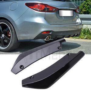 Black Rear Bumper Splitter Lip Diffuser Canard For Mazda 2 3 5 6 CX-3 CX-5 CX-7