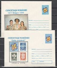 Romania, 1996 issue. 2 Scouting Postal Envelopes.