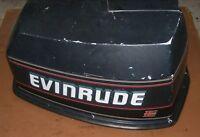 DJ8A8075 1993 Evinrude 90 HP V4 VE90TLETS Cover Cowl PN 0284480 Fits 1994-1998