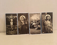 Vtg Post Mortem Catholic Funeral Prayer Card Lot Crucifix Holy Mother Mary 40's