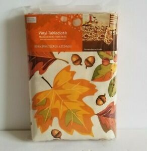 Thanksgiving Fall Tablecloths Various Sizes and Patterns YOU PICK NIP Autumn