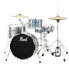 Pearl Roadshow RS584CC706 4-pc Drumset w/ Hardware & Cymbals, Charcoal