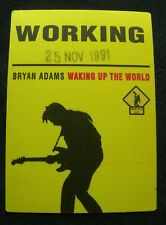 Bryan Adams Working Backstage Pass 1991 Waking Up The Neighbours