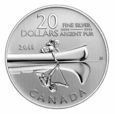 2011-Canada $20 for $20 Canoe - Pure Silver Coin