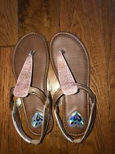 JUSTICE Girl's Rose Gold Sandals - Size 4
