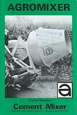 Farm Equipment Brochure - Agromixer - Cement Mixer for Tractor  (F5401)
