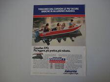 advertising Pubblicità 1981 BARCHE ITALMARINE CANADIAN 370