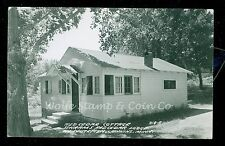 1950's RPPC Red Cedar Cottage at Schram's Red Cedar Lodge Jenkins MN B1073