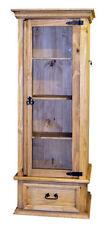 Solid Wood Curio Cabinet with Lockable Hidden Gun Storage - Gun Safe - Hideaway