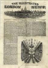 1843 general Espartero cena mansión de mala gestión de riqueza Grabado