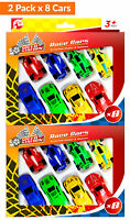 16pk Toy Car and Racing Car | Vintage Sports Car Friction Powered Racing Cars