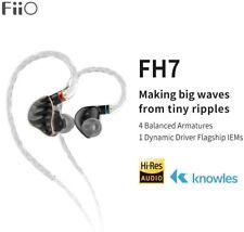 FiiO FH7 5-Drive (1DD+4BAs) Hybrid HiFi Headphone w/Replaceable Sound Filters