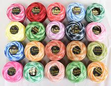 20 Multicolor Anchor Bolas ( Anchor Ganchillo Con Hilo De Algodón Bolas )