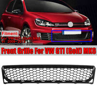 Front Bumper Center Lower Honeycomb Grille Grill For VW GTI Golf MK6 GTI