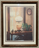 Vintage Gorgeous Framed Still Life C. Wray Lithograph Print