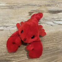 """Vintage Mary Meyer Lobster Plush Toy Stuffed Animal Red Small 7"""" Very Cute"""
