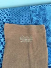 One Pair Vintage Cotton Tan garter Stockings 11 Flat Knit