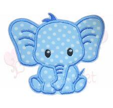 Elefant Applikation Aufbügler Aufnäher Patch XL groß blau dots punkte