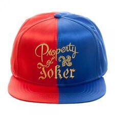 DC COMICS SUICIDE SQUAD HARLEY QUINN SATIN PROPERTY OF JOKER SNAPBACK HAT CAP