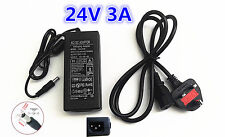 24V 3A 72W AC DC Switching Power Supply Adapter Charger Desktop CCTV LED Strip