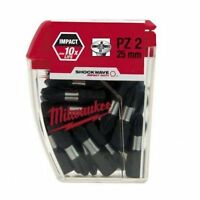 25 x Milwaukee PZ2 Shockwave Impact Screw Driver Screwdriver Bits 4932352553