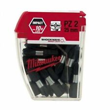 25 x Milwaukee PZ2 Shockwave Impact Screw Driver Screwdriver Bits 4932352553