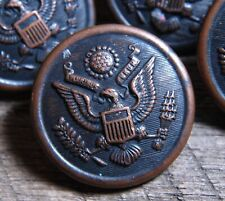 vintage bronze United States Military Button HORSTMANN, PHILADELPHIA 1&1/8""